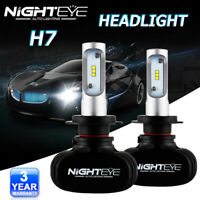 NIGHTEYE 2x 50W 9000LM H7 LED Voiture Phare Conversion KIT 6500K Ampoules Blanc