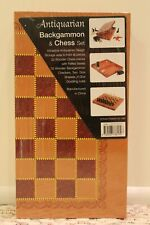 Antiquarian backgammon & chess set. New, still sealed! Never Been opened.