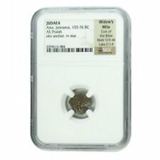 Widows Mite Ancient Coin NGC Certified Authentic Medium Quality
