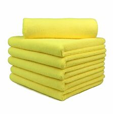 """12Pcs Professional Auto Detail Cleaning Microfiber Towel,16""""x16"""" Yellow"""
