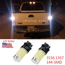 2x 2800lm 144 piece 5050 SMD LED White 3157 DRL turn signal Light Bulb For car