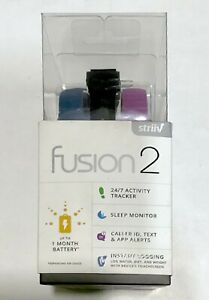 NEW Striiv Fusion 2 Smartwatch and Activity Tracker w/ 3 Color Wristbands