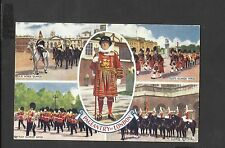 J Salmon Multi View Colour Postcard Pageantry of London-Irish Guards Band