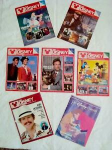 Lot of 7 DISNEY CHANNEL MAGAZINES - 1980's