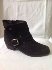 Fiore Black Ankle Leather Boots Size 6