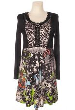 EVA & CLAUDI Women's Multicoloured Stretch A Line Long Sleeve Viscose Dress M