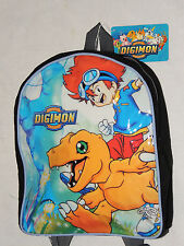 "NEW  WITH TAGS ~DIGIMON ~~  SMALL BACKPACK  12"" X 10"" APPROX."