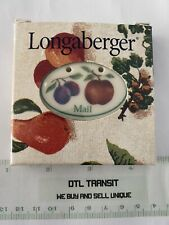 Longaberger 2000 Apple Plum Mail Tie On USA in Box A5934