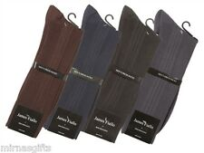Wholesale Lot of 12 Pairs Mens Dress Socks  Assorted Solid Colors Size 10-13