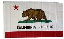 CALIFORNIA STATE FLAG 3 x 5 FOOT FLAG -  NEW 3x5 INDOOR OR OUTDOOR