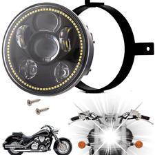 Eagle Lights Honda VTX Black Projection LED Headlight Plug and Play w/ Halo Ring