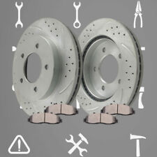 Front Drill Slot Brake Rotors and Ceramic Pads For 97-2003 Ford F150 XLT XL 4.2L