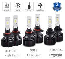 For Ram 1500 2013 2014 2015 w/Projector LED Combo Headlight & Fog Light 6 Bulbs
