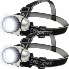 12 Led Head-Lamp with Pivoting Light-Head Torch Light 4 Mode Adjustable Set of 2
