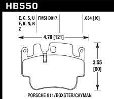 Disc Brake Pad Set-Carrera 4S Front,Rear Hawk Perf HB550S.634