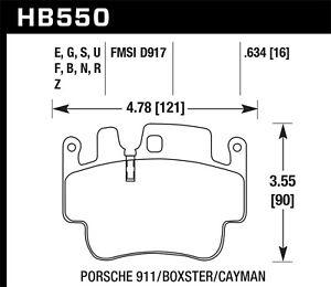 Disc Brake Pad Set-Carrera 4S Front,Rear Hawk Perf HB550F.634