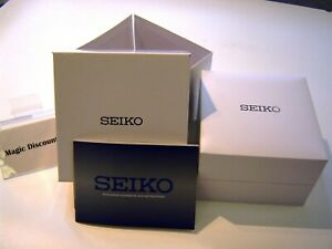 Genuine SEIKO Deluxe Watch box Cushioned Divers watch + Seiko guarantee & book