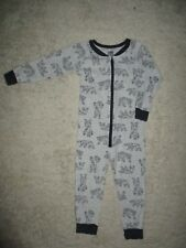 Boys Light Grey Cotton Winter Target One Piece Pyjamas Size 4