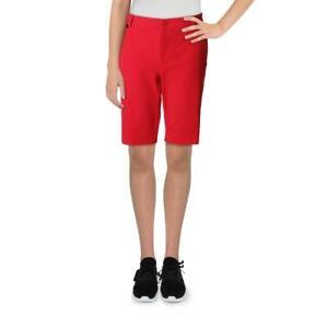 Lauren Ralph Lauren Womens Realeen Solid Casual Daytime Bermuda Shorts BHFO 1336