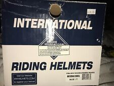 Nib International Riding Helmet Hunt Cap Size 7 Detachable Harness Velvet New