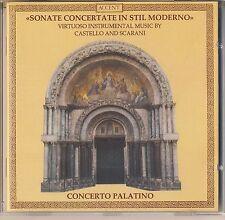 Castello, Scarani - Concerto Palatino: Virtuoso Music (1999, Accent) Like New