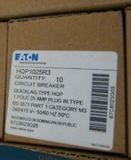 New -Box Of 10 Eaton Circuit Breakers Hqp1025R3 - 25A/1P/240V/415V