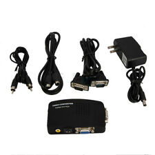 TV RCA Composite S-Video AV In To PC VGA LCD Out Converter Adapter Box US EO