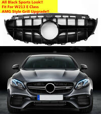 AMG Style Front Grill Grille Fit For Mercedes Benz W213 E CLass 2017 2018 BLACK