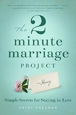 The Two-Minute Marriage Project, Heidi Poelman, Good Condition Book, ISBN 193962