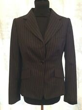 LK Bennett Charcoal Grey Pinstripe Wool Jacket Size 10