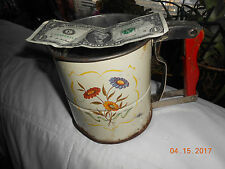 Flour sifter, baking sifter vintage  used HANDISIFT