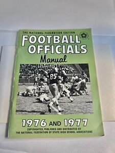 Rare 1976 And 1977 Football Mechanics Manual National Federation Of High School