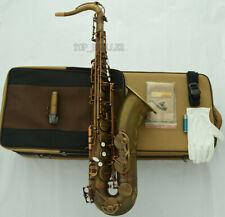 Professional brown Antique Tenor Saxophone VI Model Sax With Case