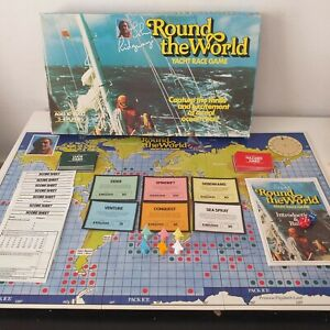 Round The World Yacht Race Board Game 1980 Complete Contents Vintage Boxed