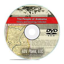 Alabama AL, People, Civil War Stories, History Genealogy, 94 Books, DVD CD V92