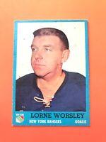 Lorne Gump Worsley 1962-63 Topps #45 Vintage Hockey Card