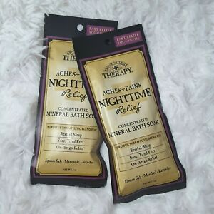 Village Naturals Therapy Nighttime Mineral Bath Soak 2 Pack Travel Size