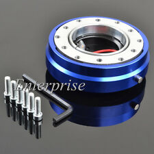 Blue Short Quick Release Hub Snap Off Boss Kit For Nissan Toyota Steering Wheel