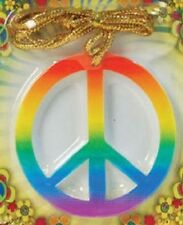 Hippy Hippie CND Mens Ladies 1960's Fancy Dress Costume Medallion Peace Necklace