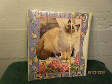 MEAD Sophisticats Cat Kitten Trapper Keeper 1990's Persian Cat & Butterflies