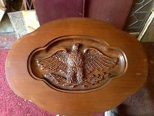 Vintage Carved Yankee Eagle Tray Top Coffee Table. 1930's    Greyhound Shipping