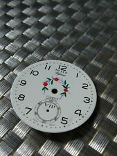 vintage used MEYER pocket watch dial for Unitas 6498 movement for parts