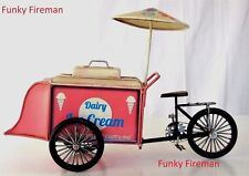 Model cargo bike tricycle Ice cream cart ornament ~ Home cafe bistro decoration