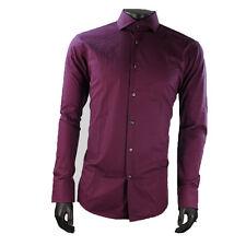 HUGO BOSS Men's Business-Regular Collar Cotton Formal Shirts