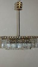 Kristallglas Korblüster Kristall Lüster Leuchter Kronleuchter Lampe Antik