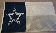 """DALLAS COWBOYS """"TEXAS PRIDE"""" FLAG BANNER HUGE 3' X 5' SIZE KNITTED POLYESTER!!!"""