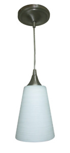 Portfolio CPL1-1PNK LED Polished Nickel Mini Pendant Light Transitional Cone