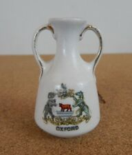 Crested Ware 2 Handled Vase Oxford Crest 7cm tall