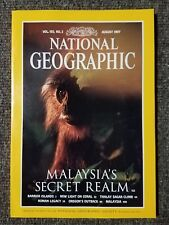 National Geographic Magazine August 1997 Malaysia, Barrier Island, Coral