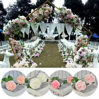 Bridal 3 Heads Silk Flowers Peony Flowers Garden Home Wedding Party Decor DIY